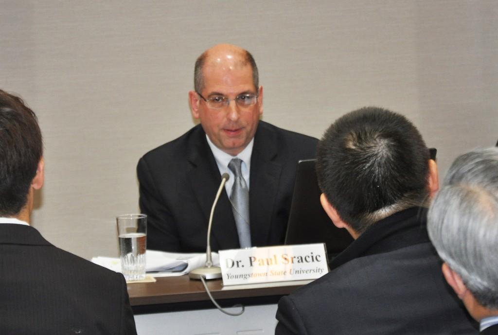Paul Sracic at the U.S. Embassy in Tokyo.