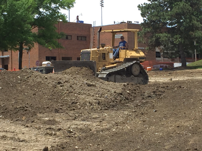 The Rec 5 area just west of Sweeney Hall went under the blade of the bulldozer earlier this summer.