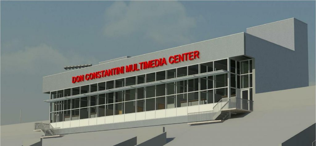 Rendering of the Constantini Multimedia Center at Stambaugh Stadium,
