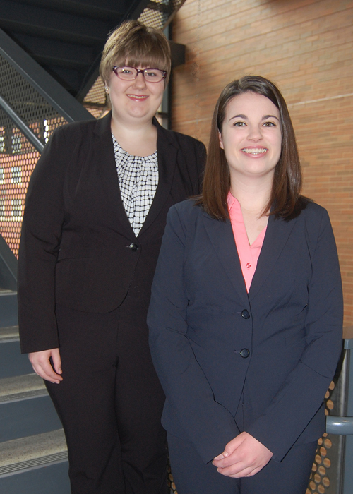 Amanda Macinga, left, and Nicole Pavlansky.