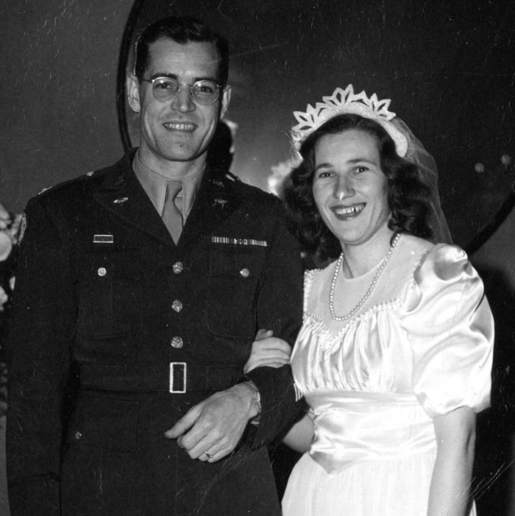 David and Helga Ives on their wedding day in 1946.
