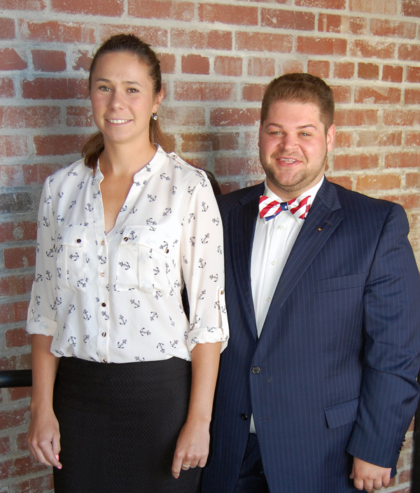 Dominika Lackova, left, of Bratislava, Slovakia, and Corey Patrick of Struthers are Monus Fellows.