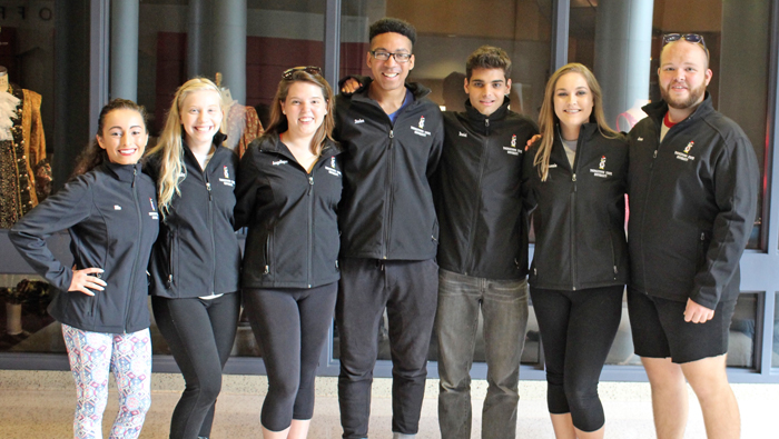 Students and alumni in Youngstown State University's Musical Theater program travelling to Oslo, Norway for a conference include, from the left, Mia Colon, Emily Shipley, Angelique Tanner, Stefon Funderburke, Daniel Navabi, Makenzie Moorman and Connor Bezeredi.