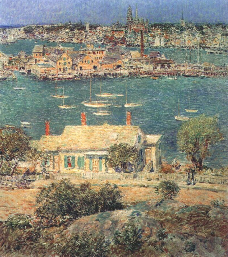 "John J. McDonough donated the proceeds from the sale of this painting, ""Gloucester Harbor"" by Childe Hassam, to YSU to build the museum on Wick Avenue, which this year celebrates its 25th anniversary."