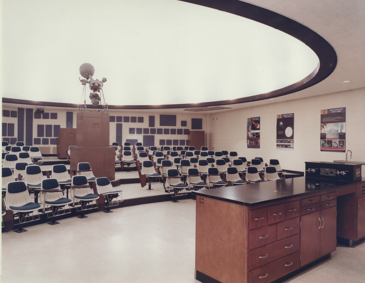 This is a photo of Ward Beecher Planetarium when it opened in 1967. It celebrates its 50th anniversary this year.