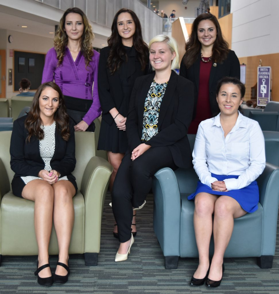 John D. Beeghly Fellows for the 2016 Fall Semester are: left to right, back row: Gulnara Gumerova, Yana Flider, Megan Guliano, and front row, Rayann Gagliano, Connie Buck, and Samantha Anderson.